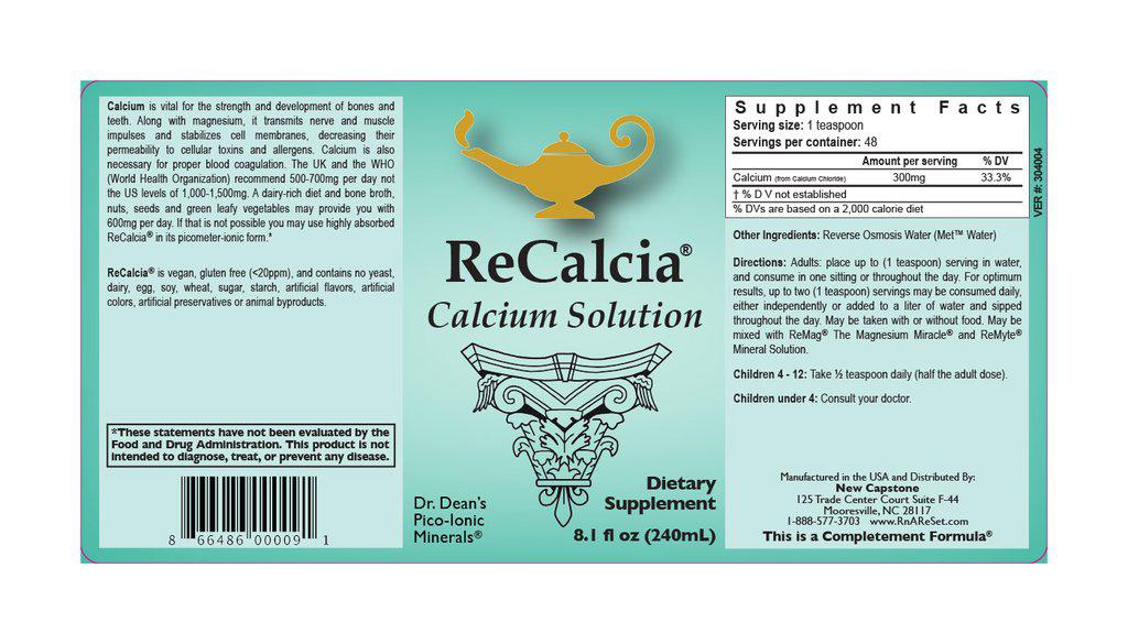 ReCalcia® Calcium Solution | Dr. Dean's Pico Ionic Liquid Calcium
