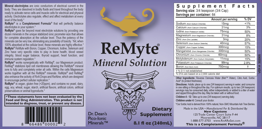 ReMyte® - Mineral Solution | Dr. Dean's Pico Meter Multiple Minerals