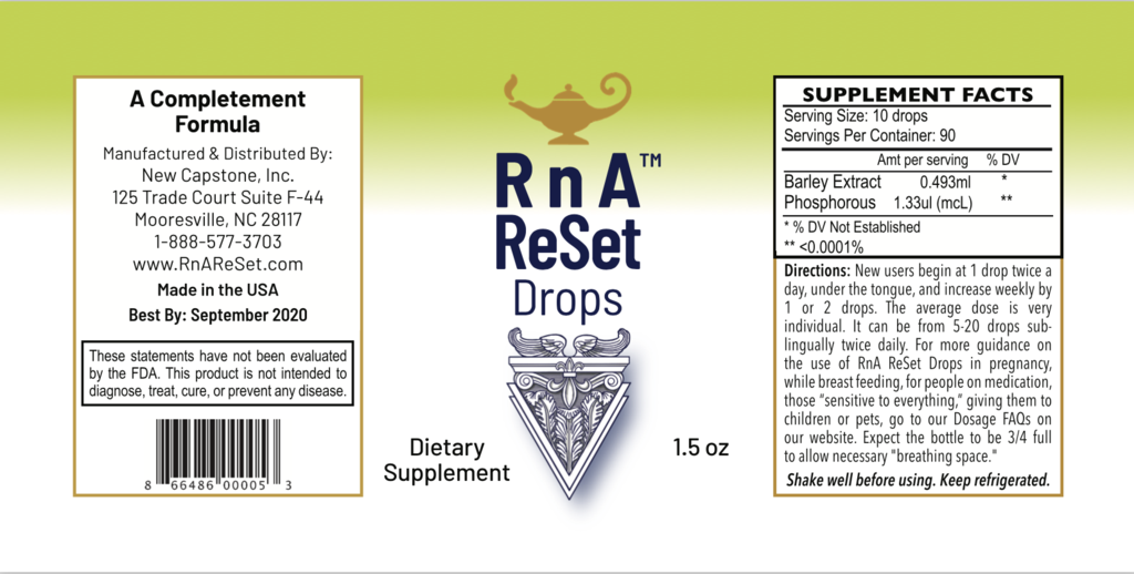 RnA ReSet Drops™ - Extract from Barley